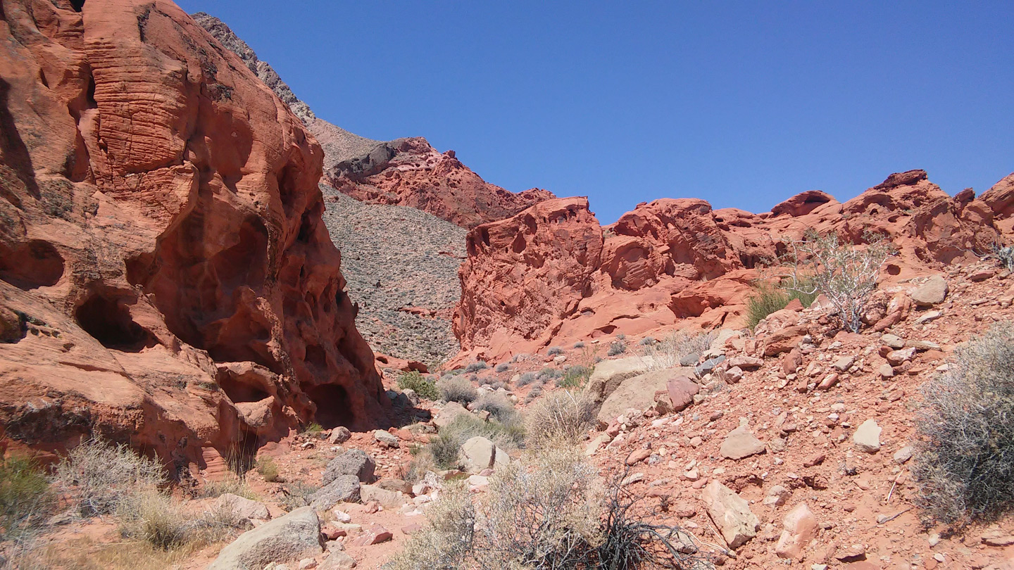Eroded red cliffs