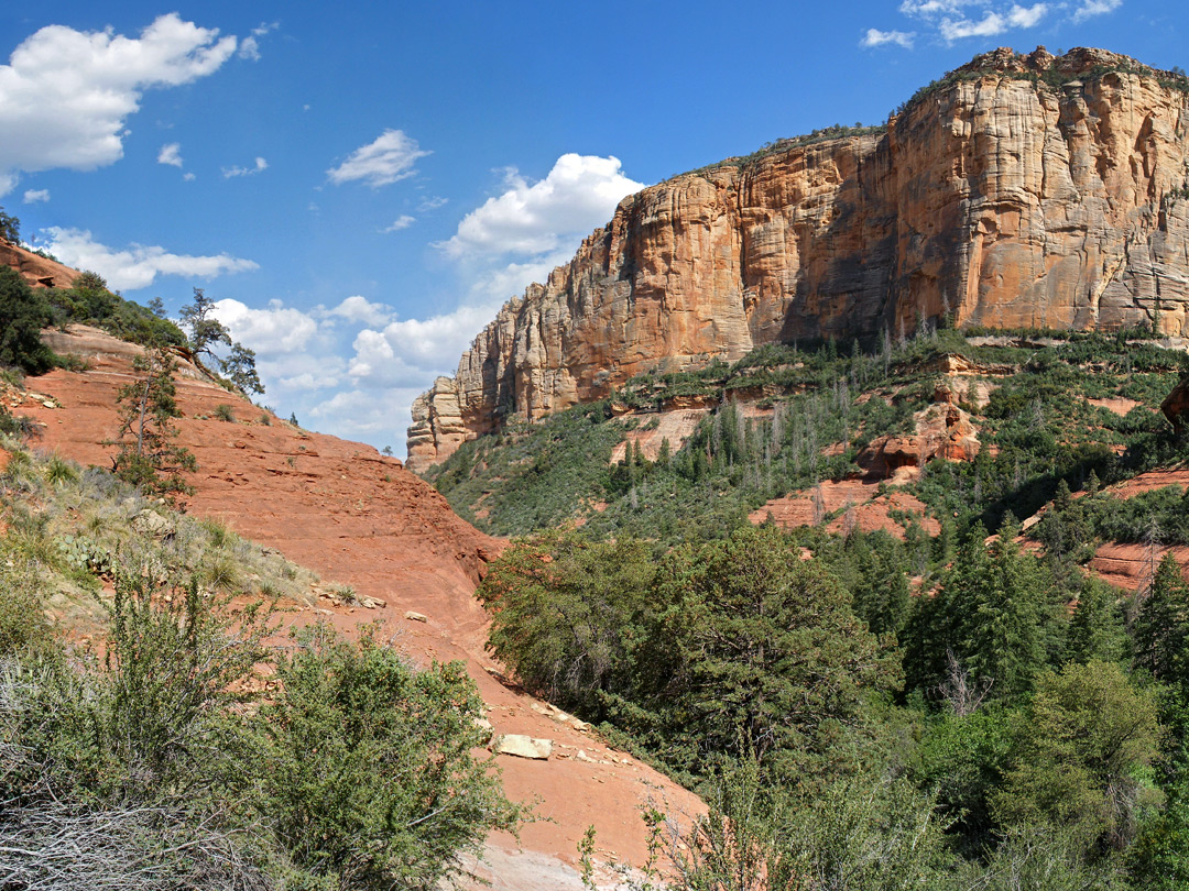 Cliffs at the end of the trail