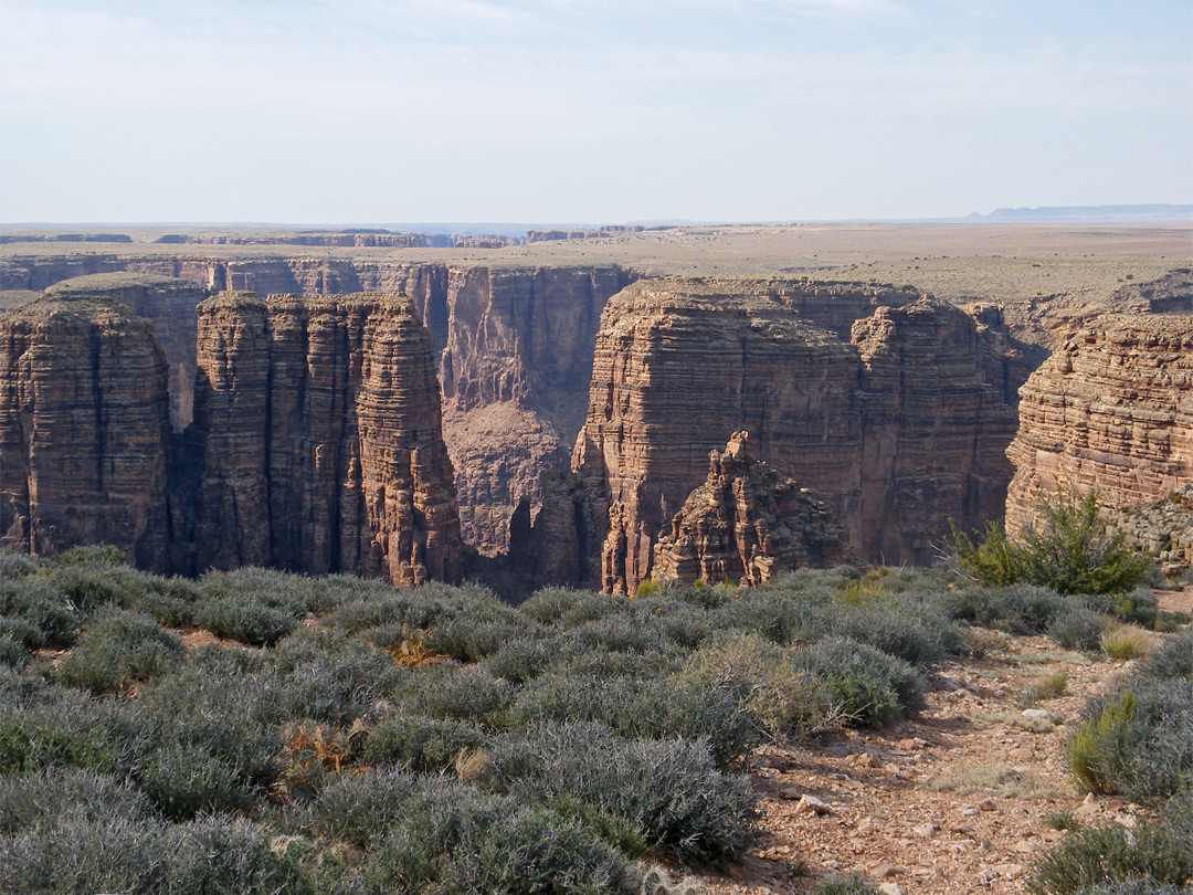 Canyon Rim The Little Colorado River Arizona