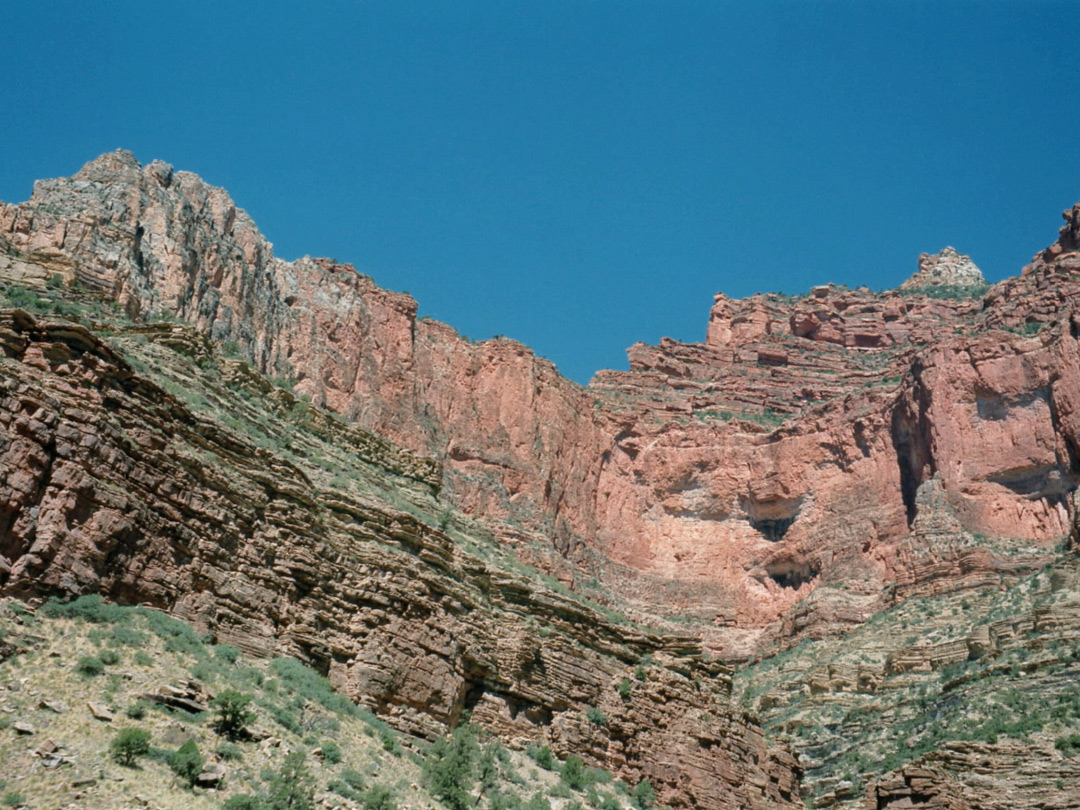 Cliffs along the trail
