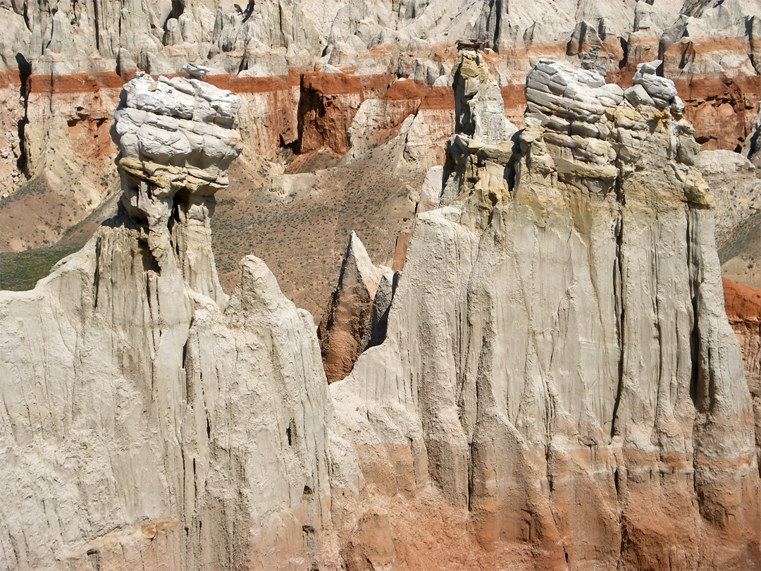 Line of hoodoos