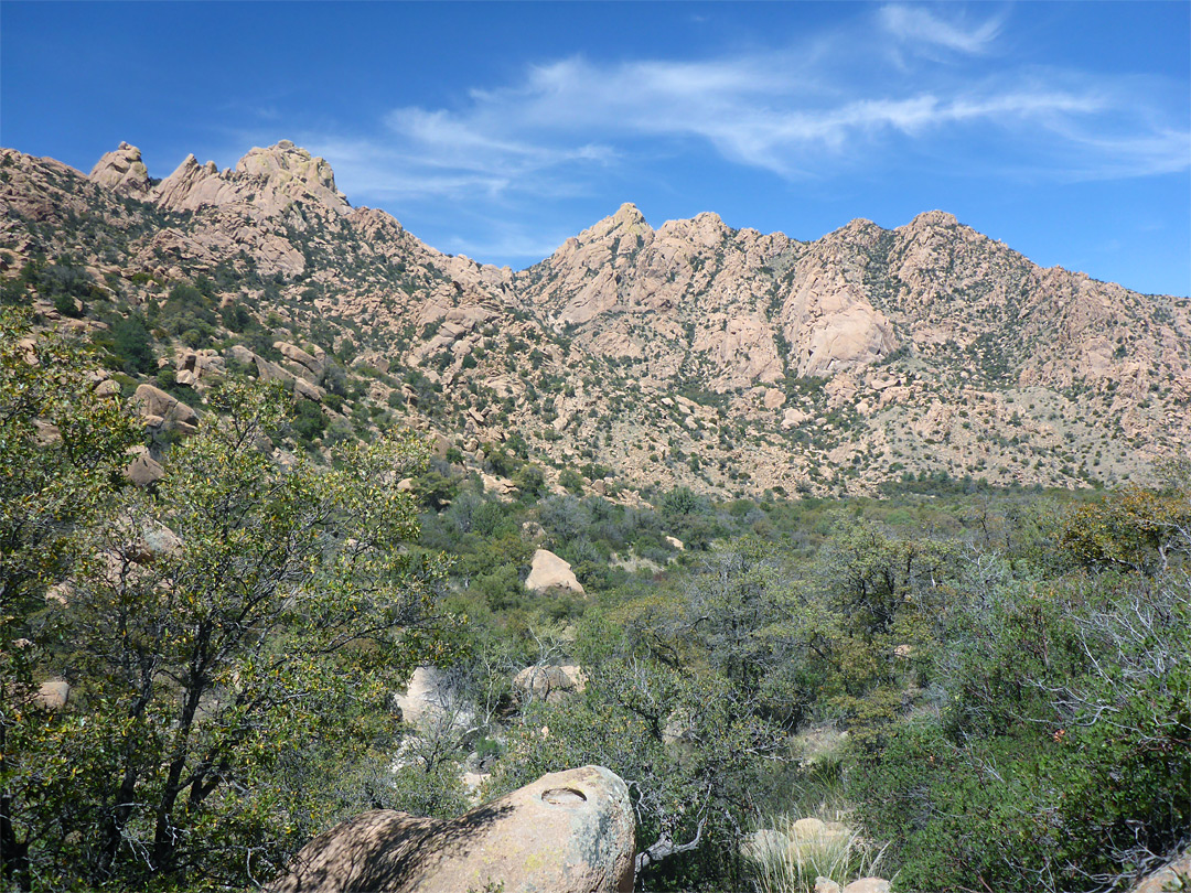 Lower end of Stronghold Canyon