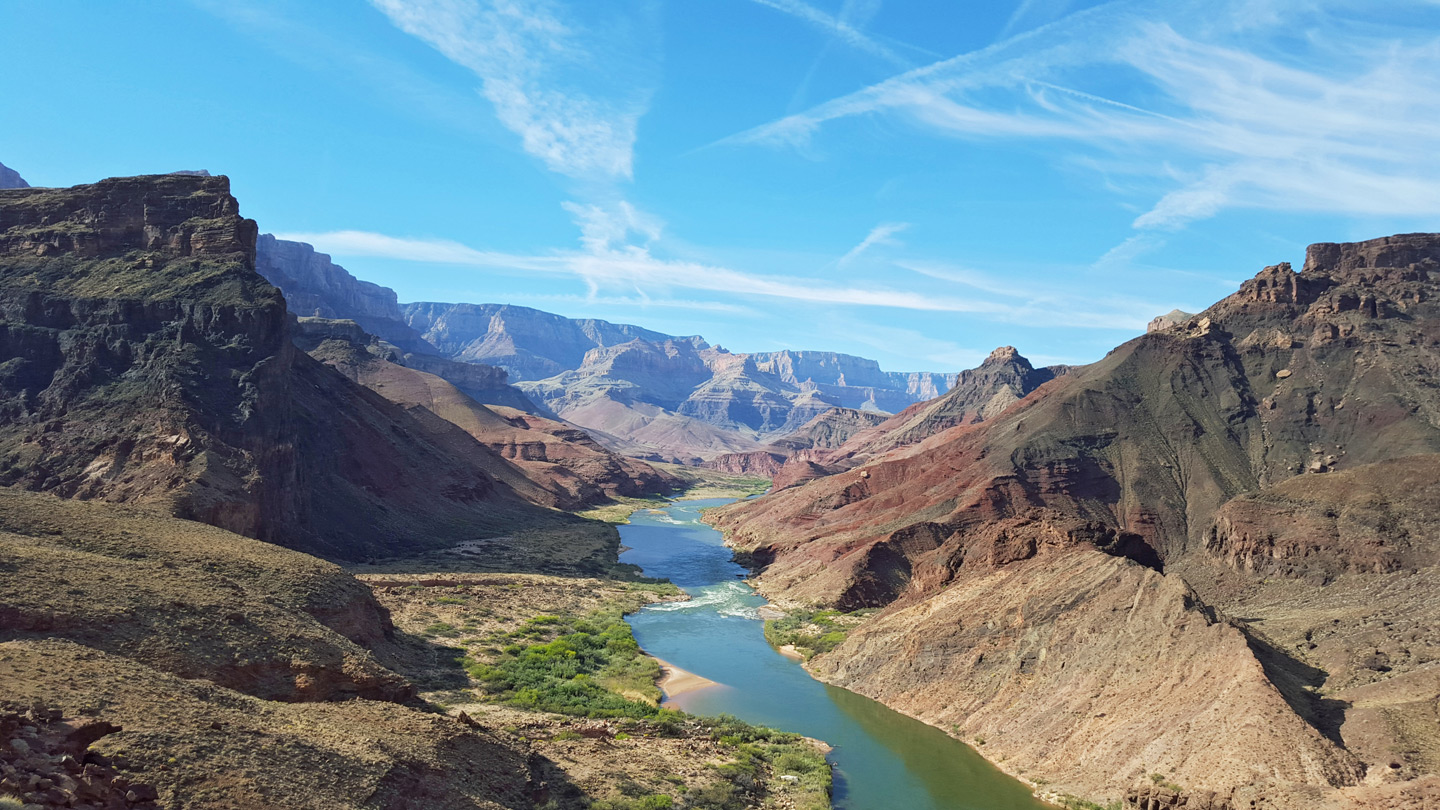 The Colorado River - view south along the Beamer Trail