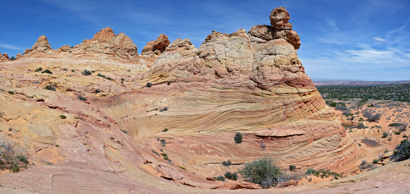 Multicolored sandstone