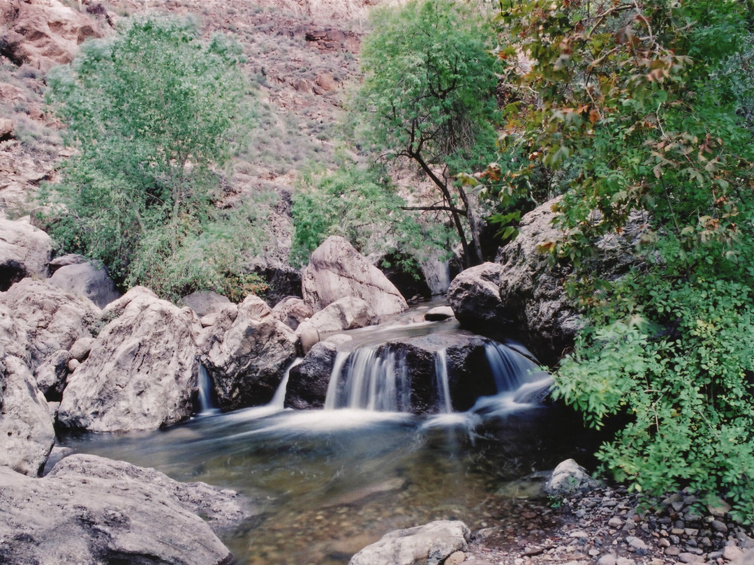 Small waterfall upper fish creek arizona for Small creek fishing