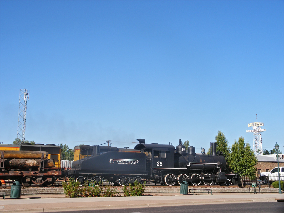 Train by Route 66 in Flagstaff