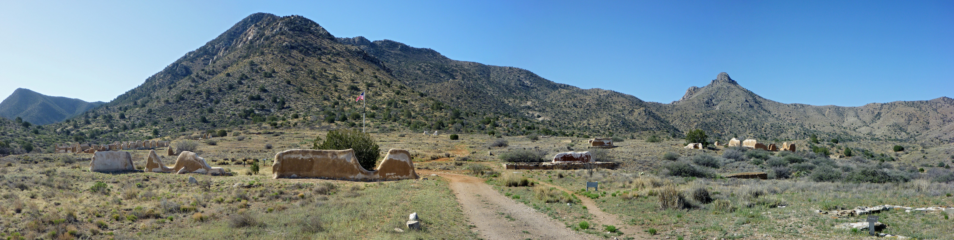 Panoramic view of Fort Bowie