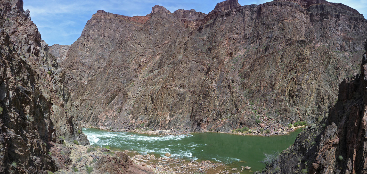 The Colorado River, at the end of Hance Creek