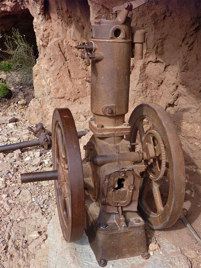 Old mine engine