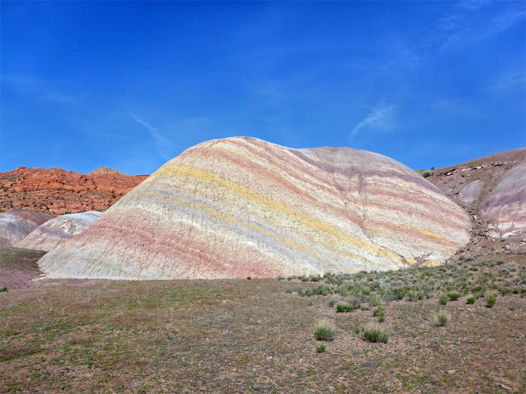 Pastel-colored mound