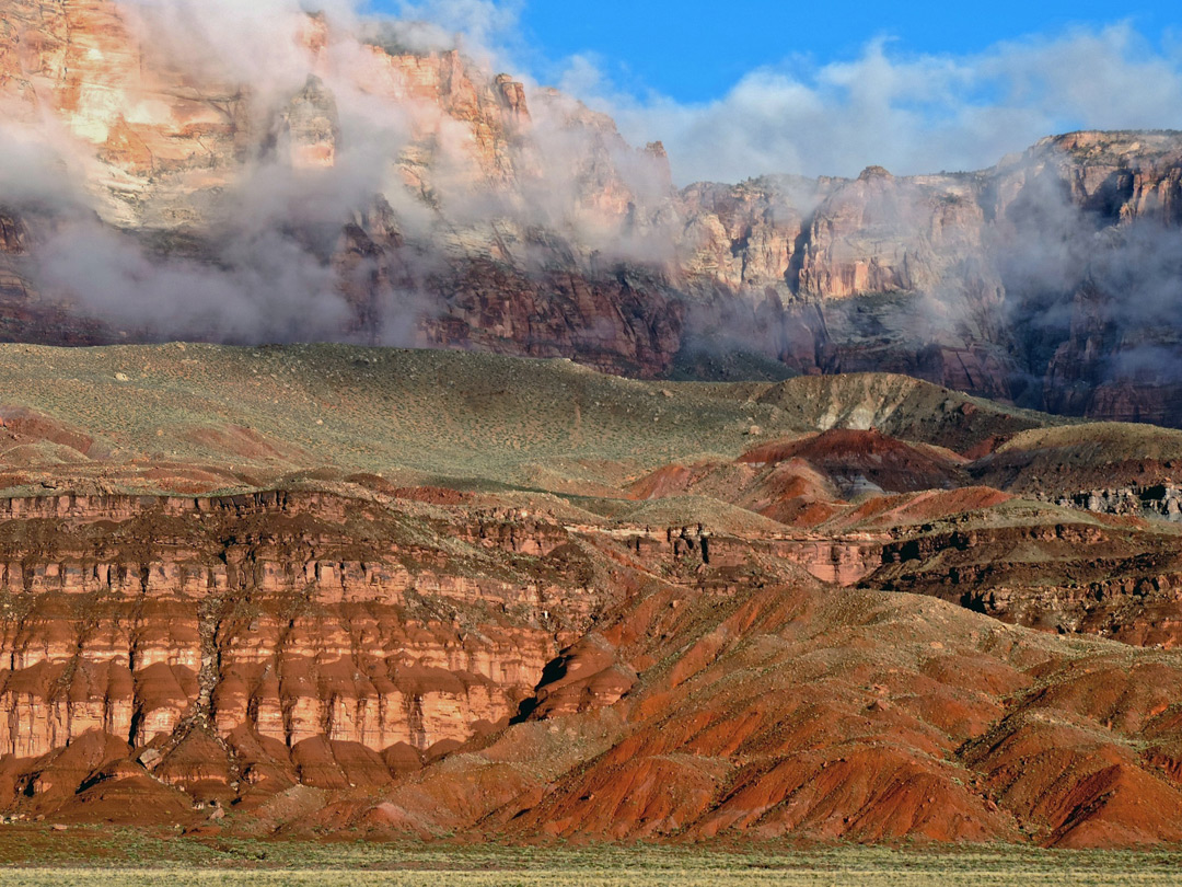 Mist over the Vermilion Cliffs