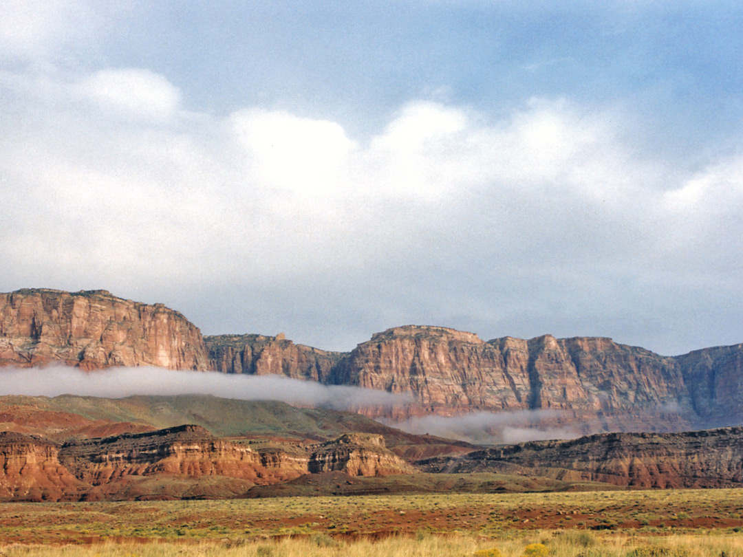 Low cloud by the Vermilion Cliffs