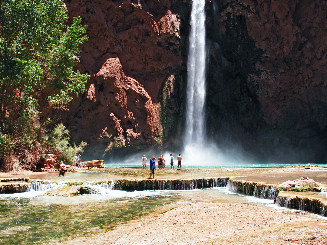 Terrace below Mooney Falls