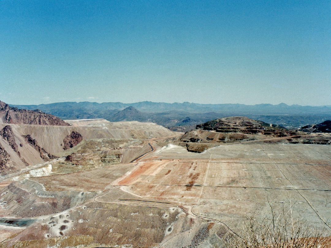 Morenci Mine - view south