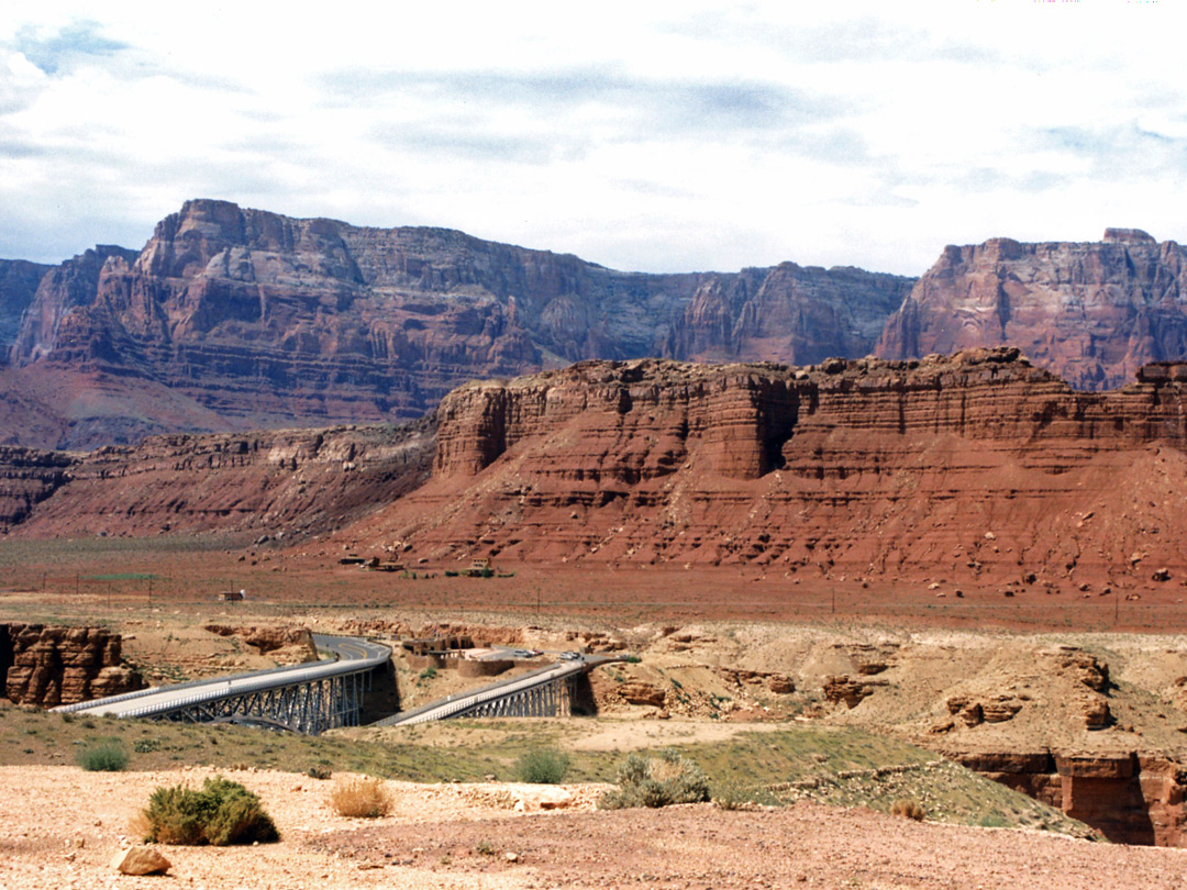 The two US 89 bridges