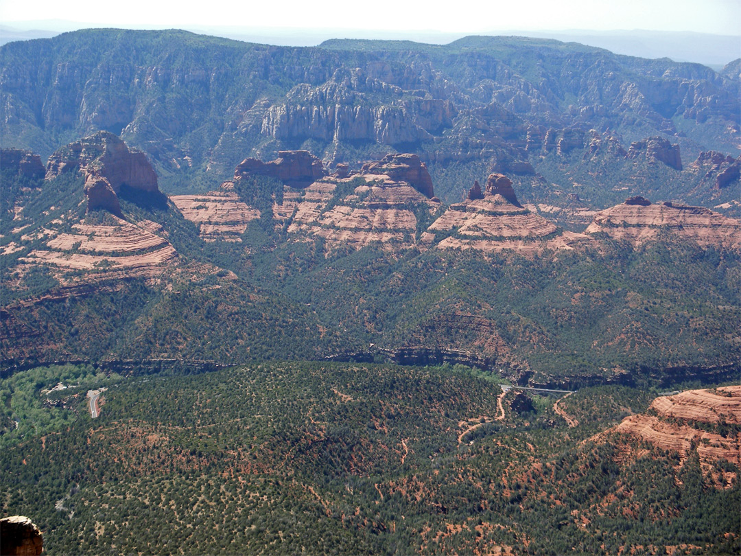 Munds Mountain and Oak Creek Canyon