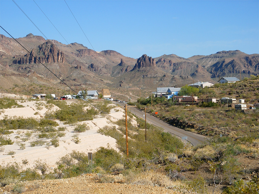 Route 66 north of Oatman