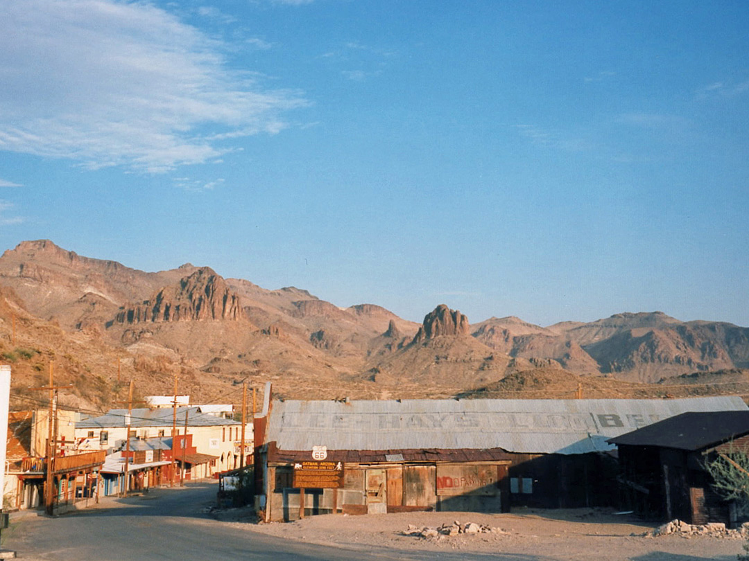 Wide view over Oatman