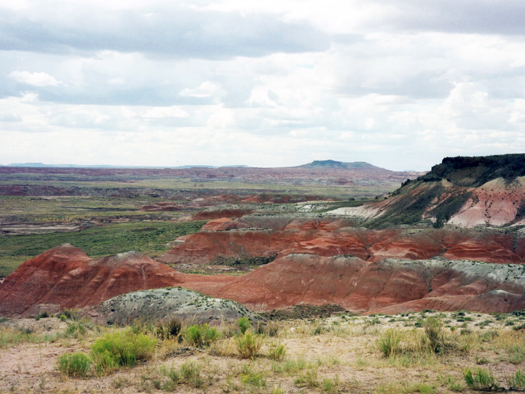 Red and grey badlands