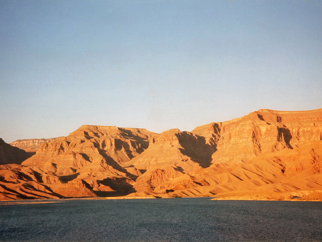 Sunset over Lake Mead, at the end of the Grand Canyon
