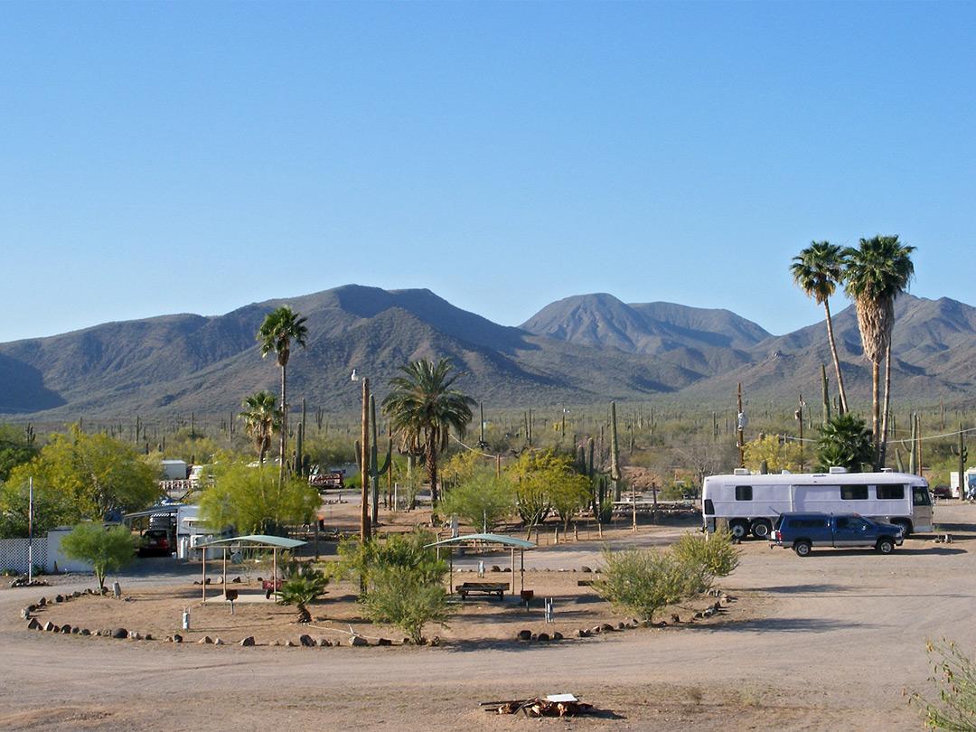 Map Of Arizona Rv Parks.Saguaro Rv Park Sonoran Desert National Monument Arizona