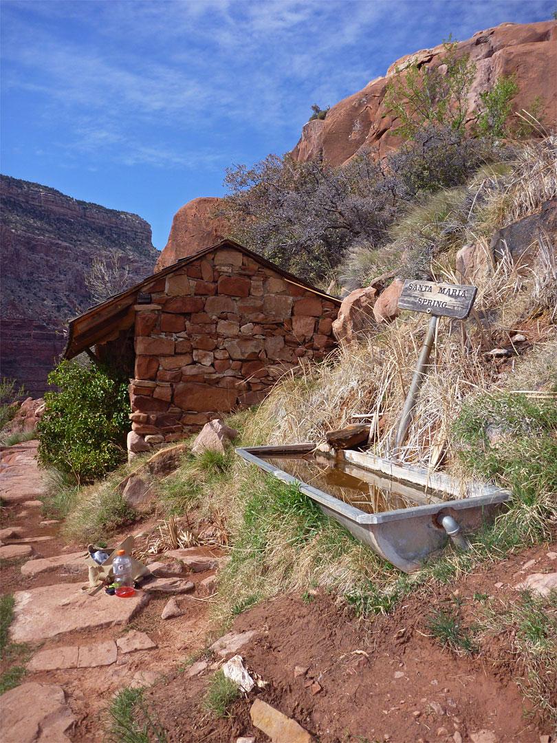santa maria spring  hermit trail  grand canyon national