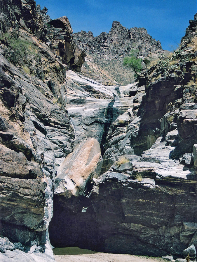 Boulder and chute