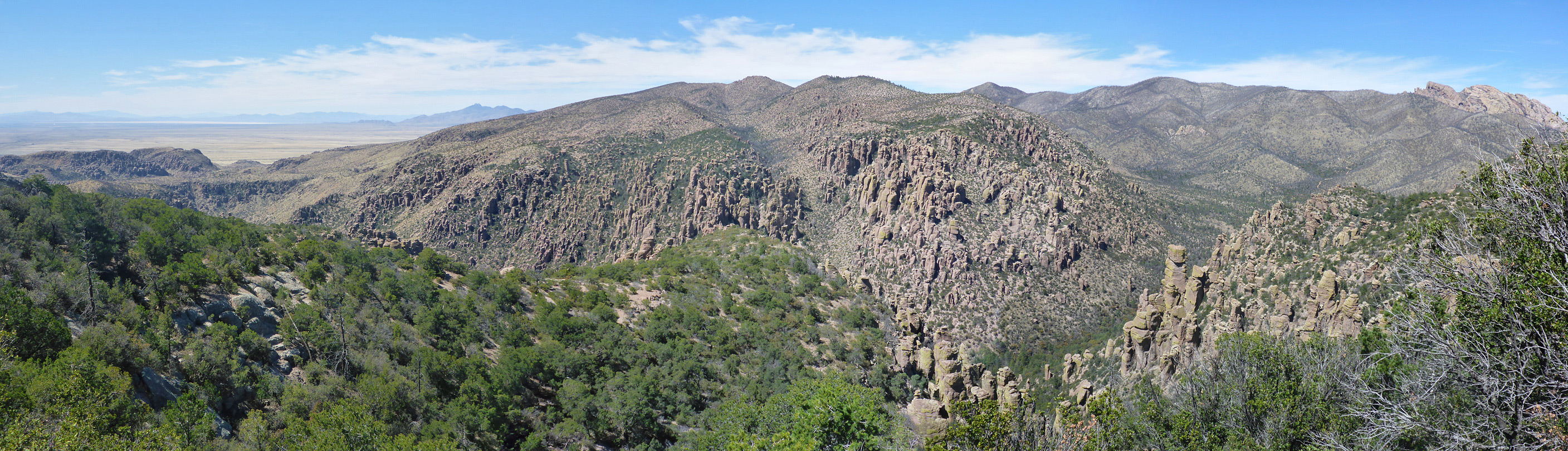 Panorama above Bonita Canyon
