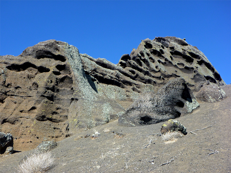 Eroded outcrop