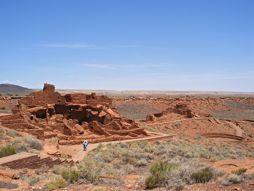 Wide view of Wupatki Pueblo