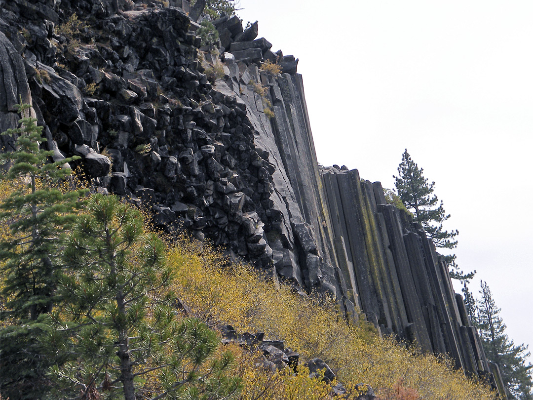 North side of the cliffs