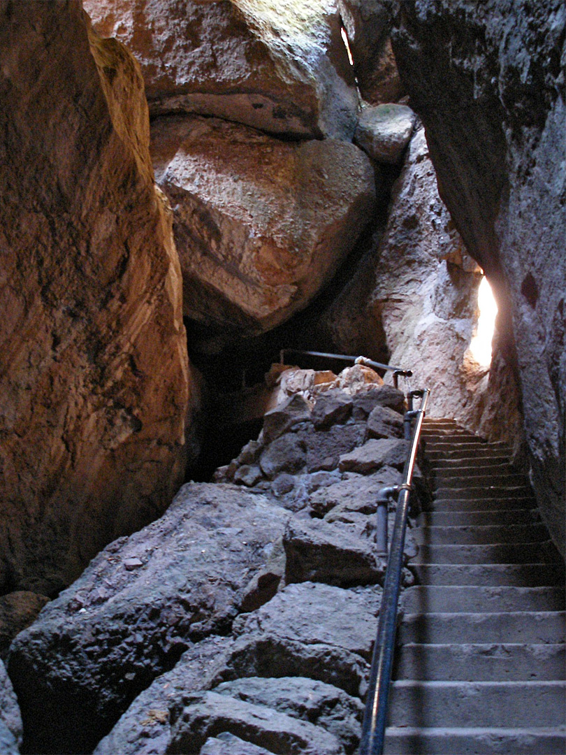Steps in Bear Gulch Cave