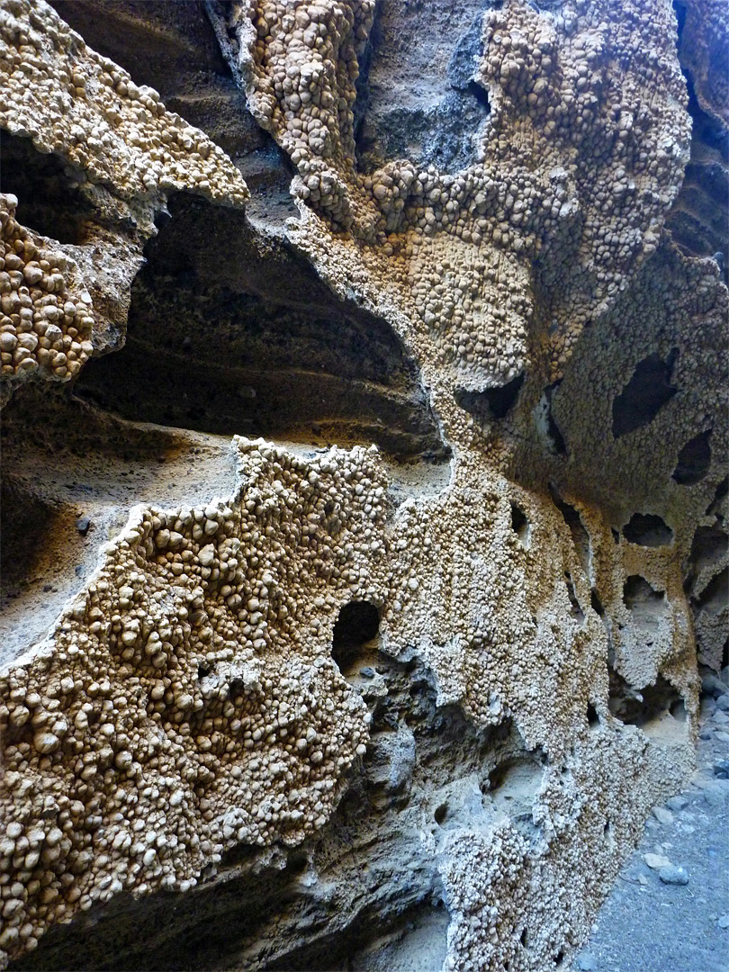 Eroded canyon walls