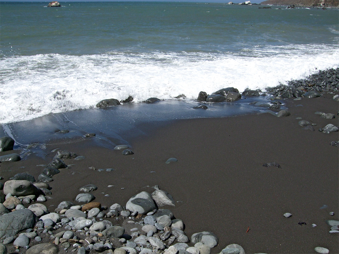 Black sand: the Lost Coast, California Pacific Ocean Waves
