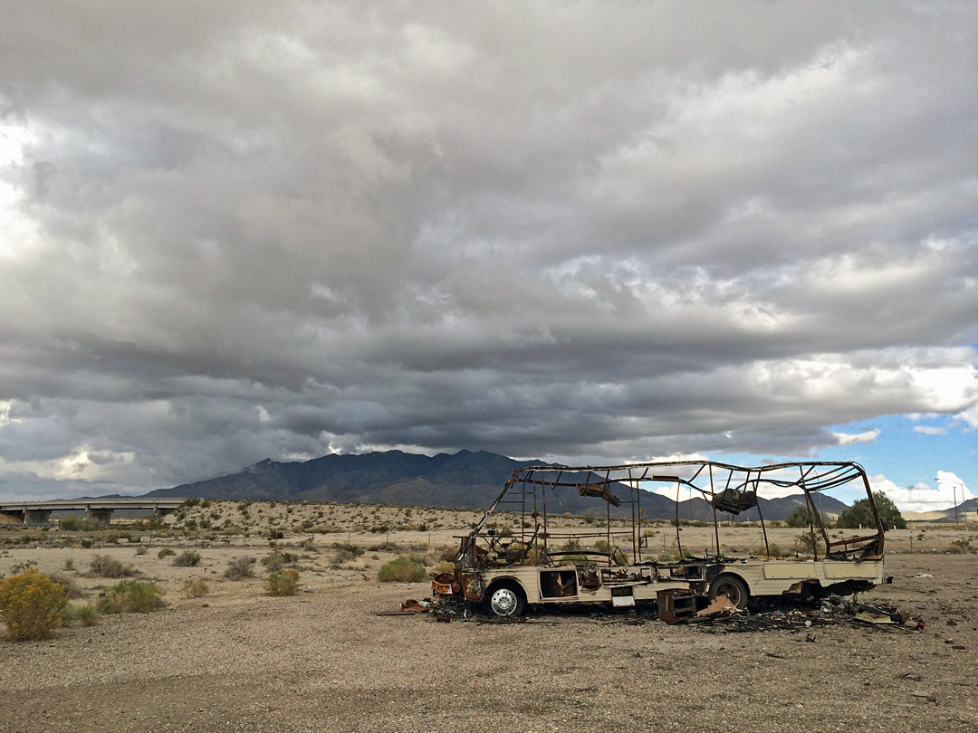 RV, destroyed by fire