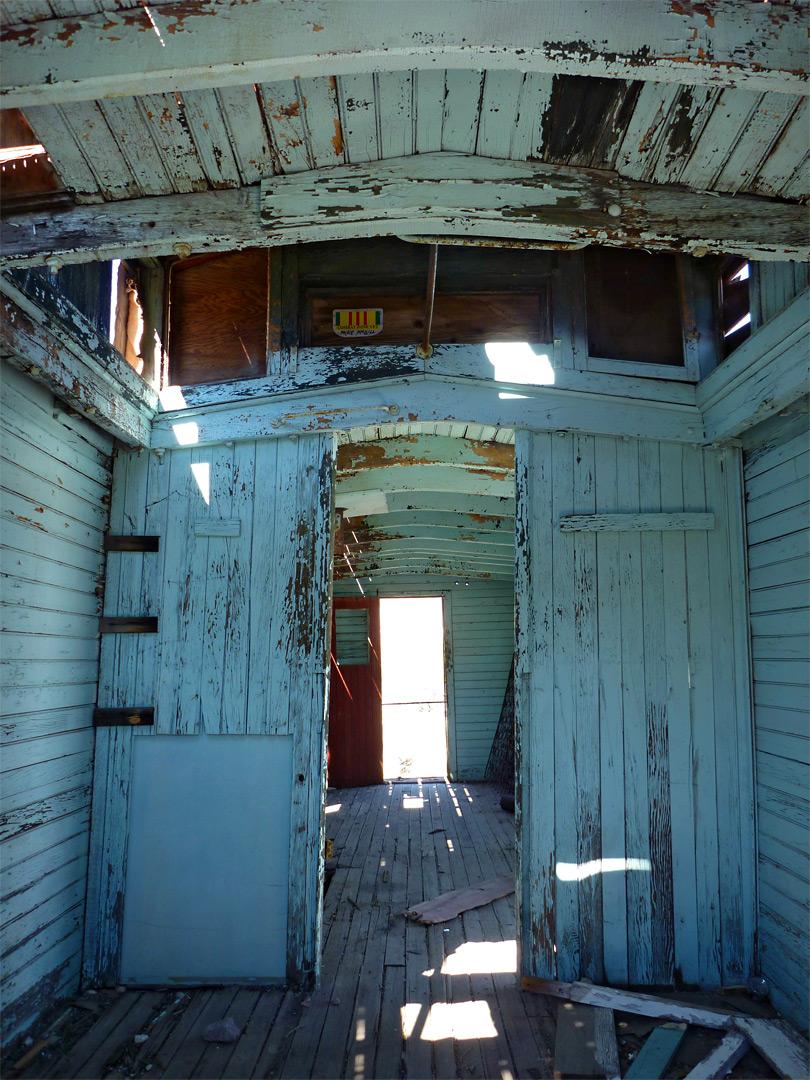 caboose interior rhyolite ghost town death valley