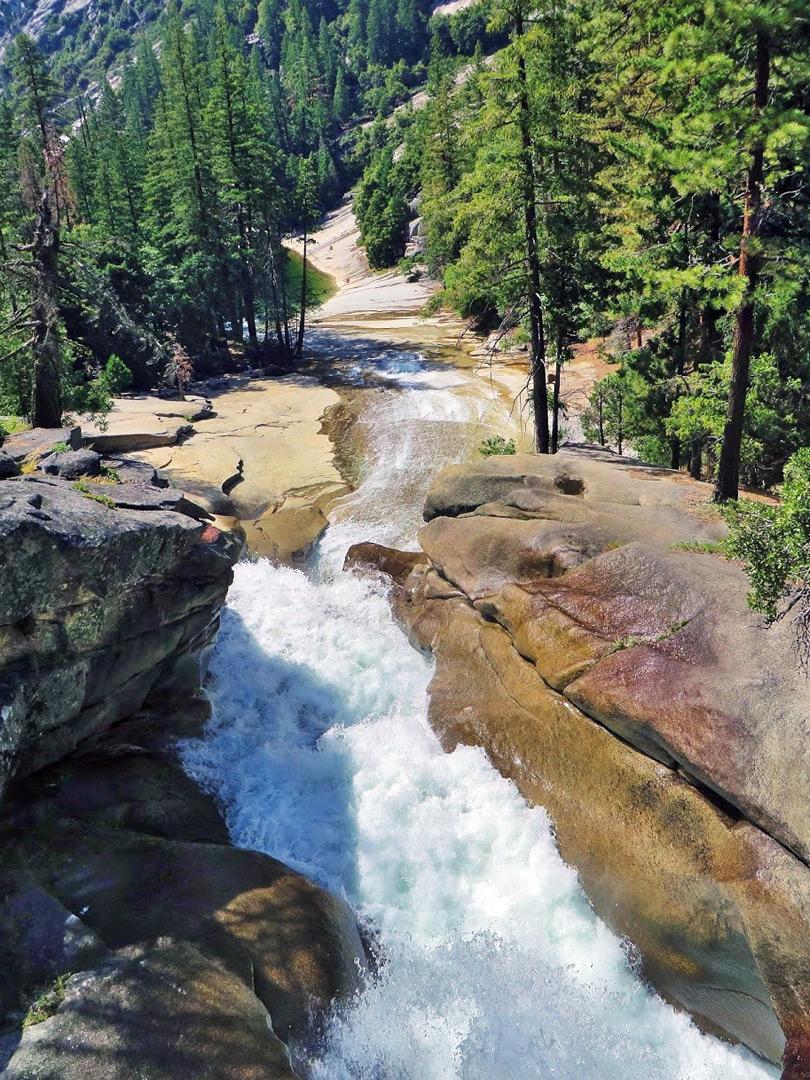 Silver Apron Mist Trail Yosemite National Park California