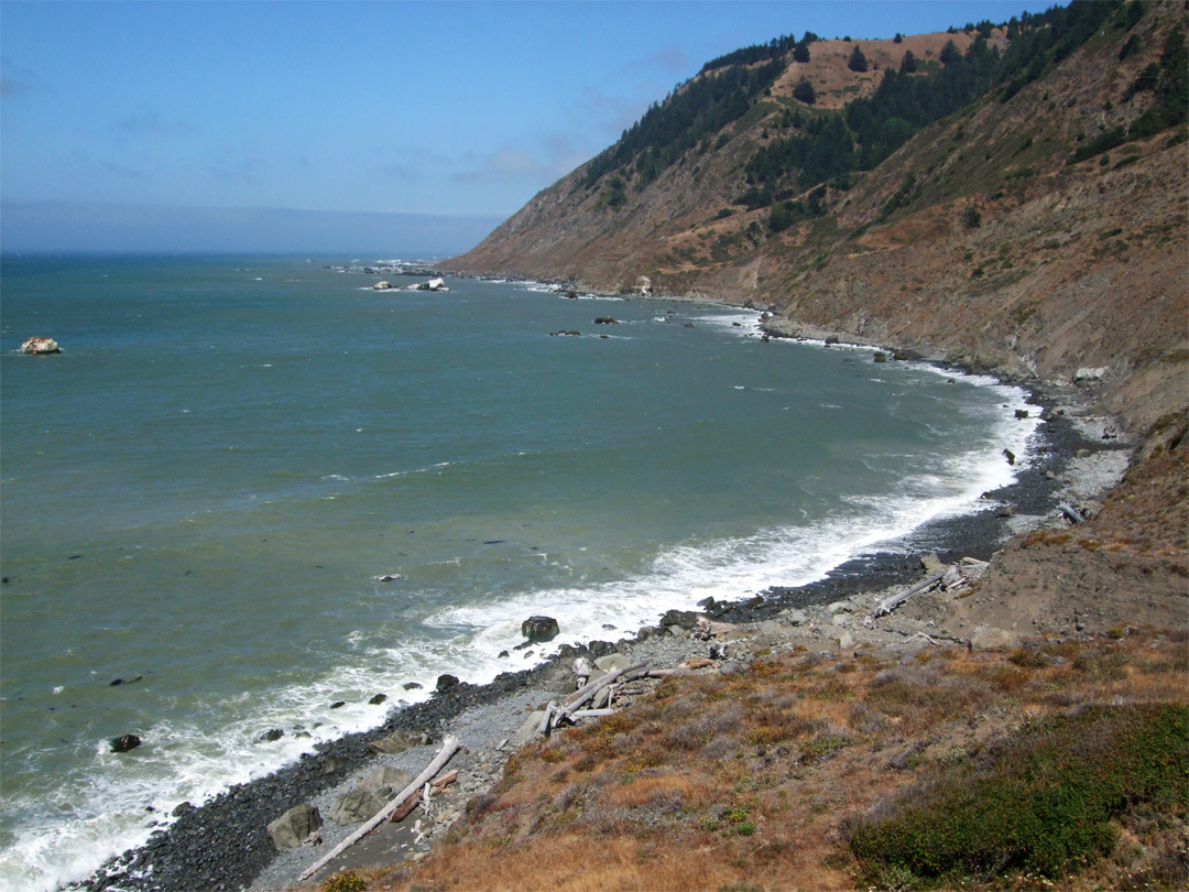 High above the ocean: the Lost Coast, California Pacific Ocean Waves