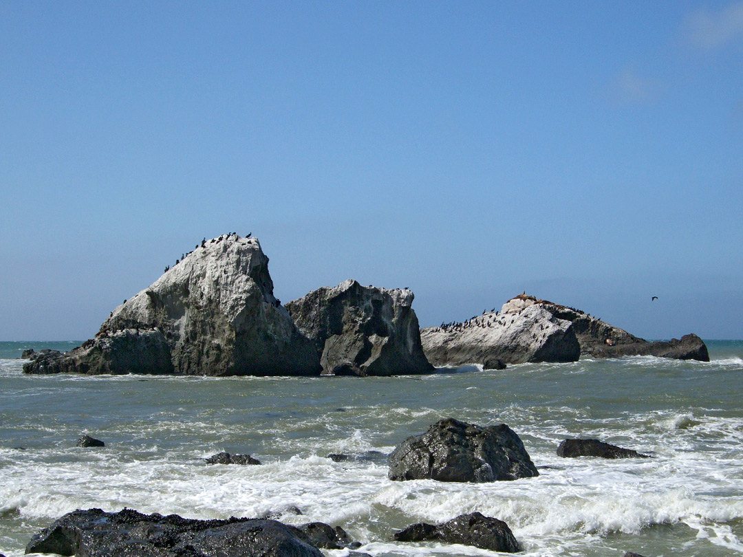 Isolated rocks