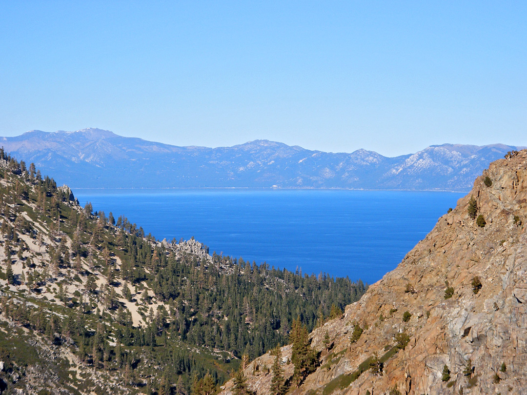 View east towards Lake Tahoe