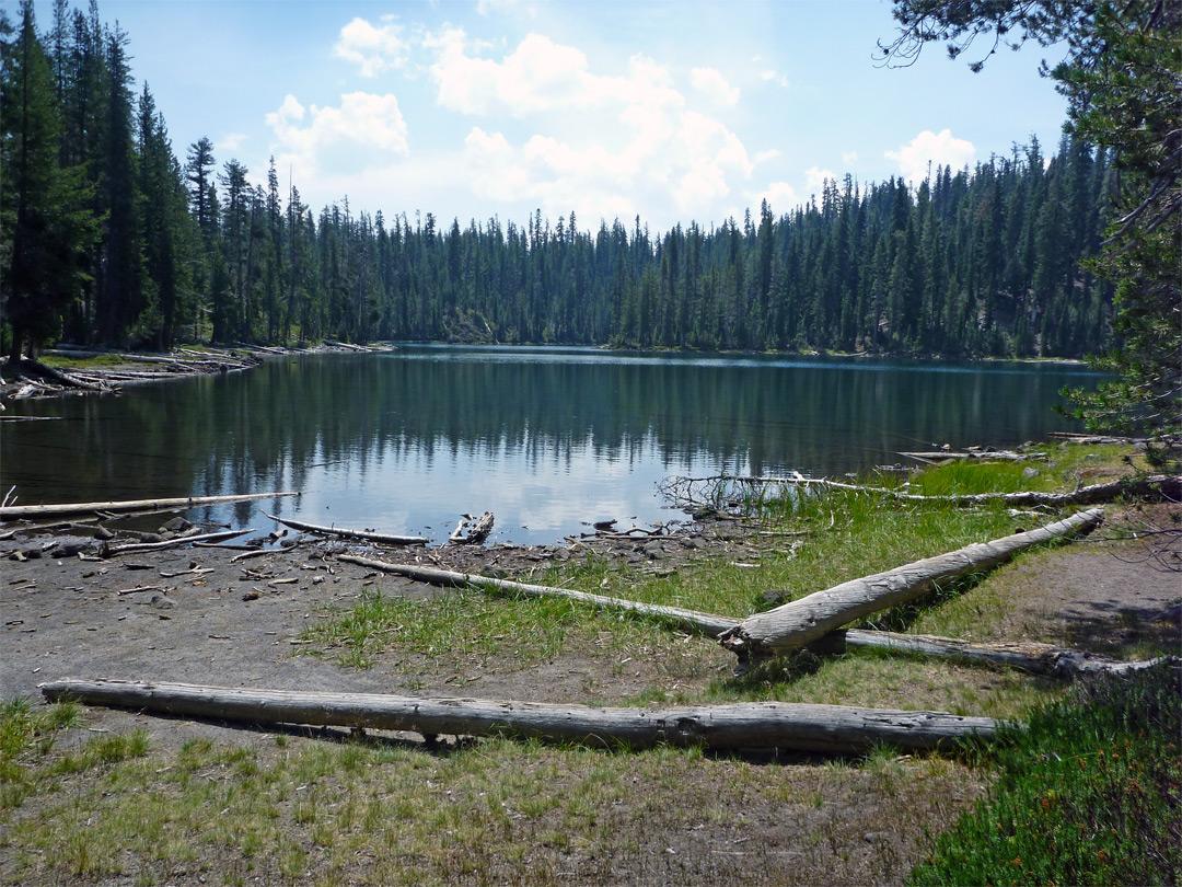 Shoreline Of Echo Lake Cluster Lakes Loop Lassen