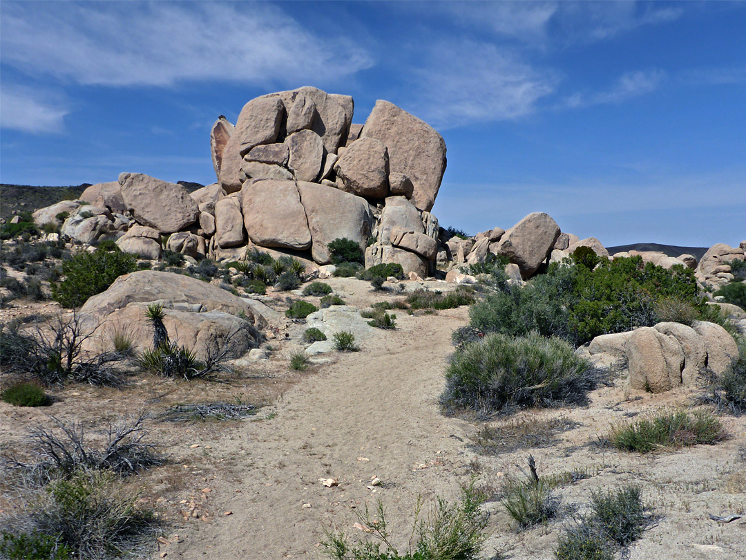 Boulders beside the path