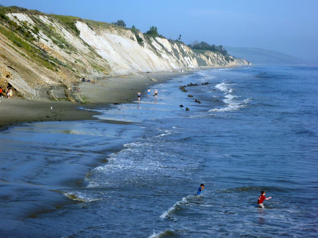Waves beneath the cliffs: Gaviota State Park and the Gaviota Peak ... Pacific Ocean Waves