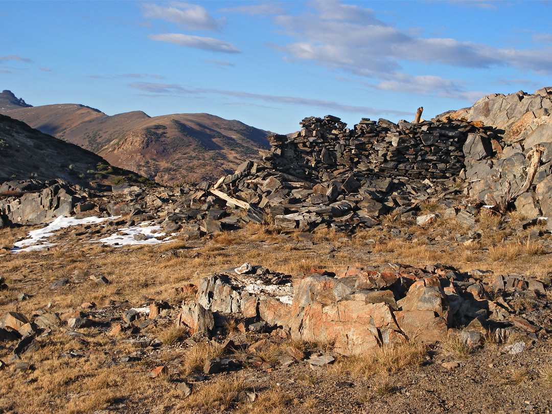 Stone cabin at the Great Sierra Mine