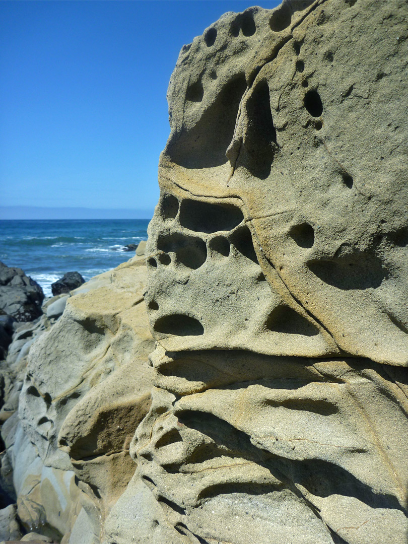 Sculpted rock face