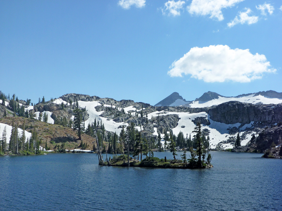 Island in Heather Lake