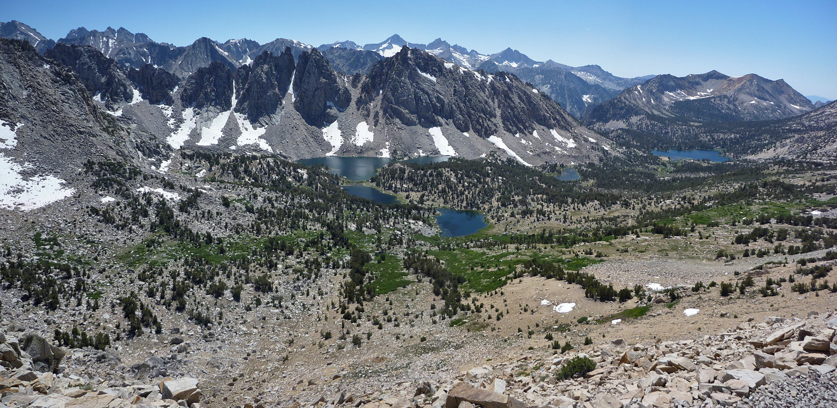Kearsarge Lakes and the Kearsarge Pinnacles