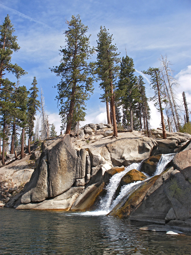 Granite rocks by the Lower Falls