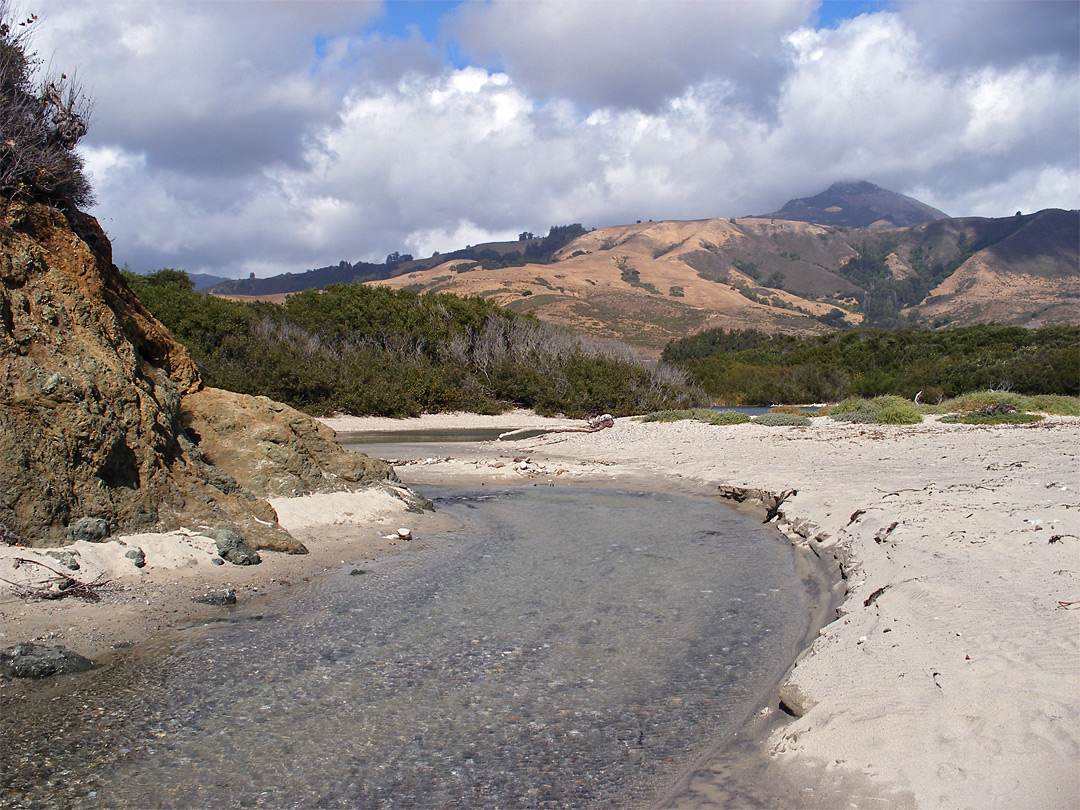 End of the Big Sur River