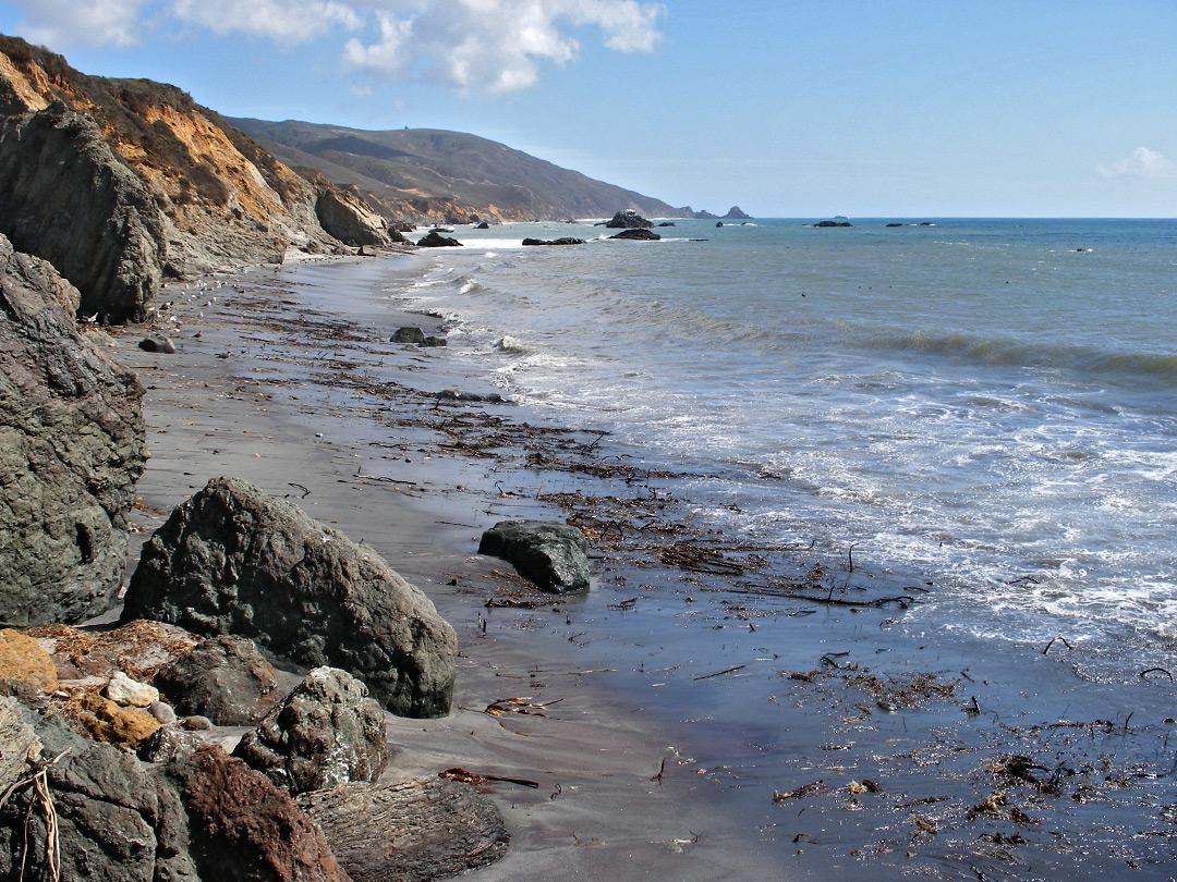 Cliffs: Andrew Molera State Park, California Pacific Ocean Waves
